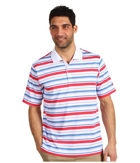 Tricouri adidas - ClimaLiteî Bar Stripe Polo \13 - White/Oasis/Punch