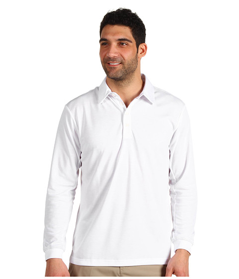 Bluze adidas - ClimaLite L/S Stretch Pique Polo \13 - White/Black