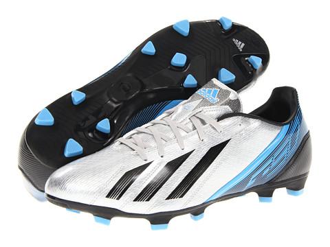Adidasi adidas - F10 TRX FG 2012 - Metallic Silver/Black/Joy Blue