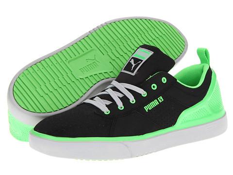 Adidasi PUMA - Zanthem S Lite - Black/Fluo Green/High Rise