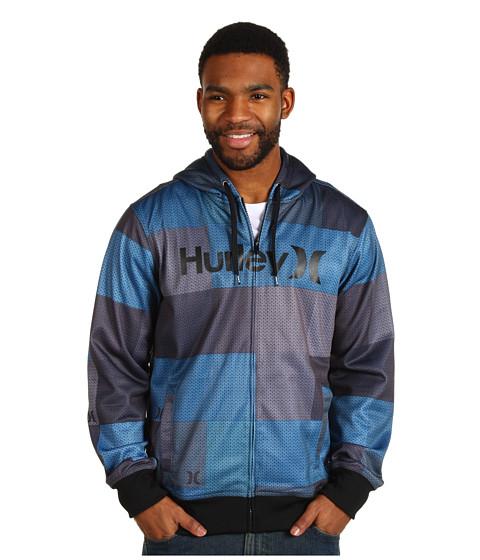Bluze Hurley - Multi Stripe Fleece Hoodie - Cyan 2