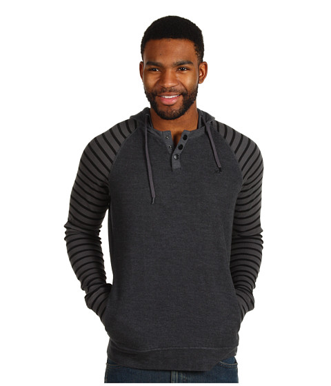 Bluze Hurley - Barrio L/S Hooded Henley - Graphite