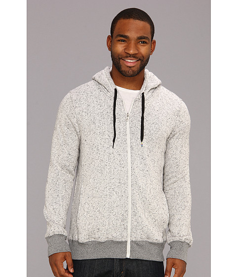 Bluze Hurley - Retreat Insert Zip Fleece - Heather White