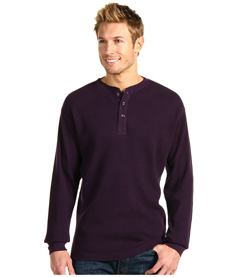 Bluze Fitzwell - Thermal Henley - Eggplant
