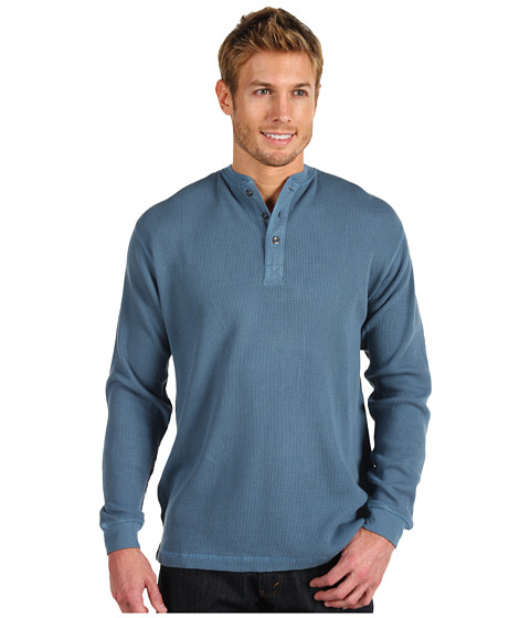 Bluze Fitzwell - Thermal Henley - Wedgewood