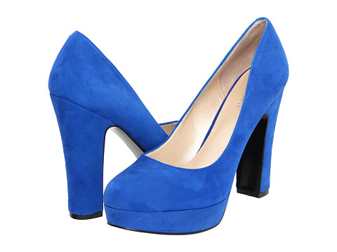 Pantofi Nine West - Drought - Dark Blue Suede