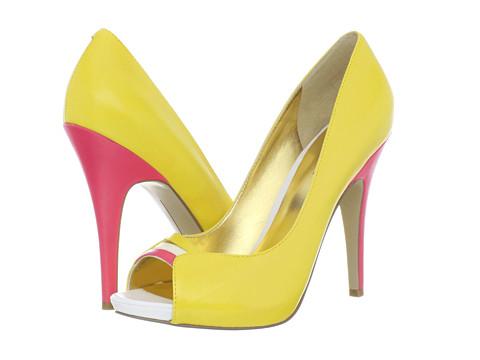Pantofi Nine West - FastAzYou - Yellow Multi Leather