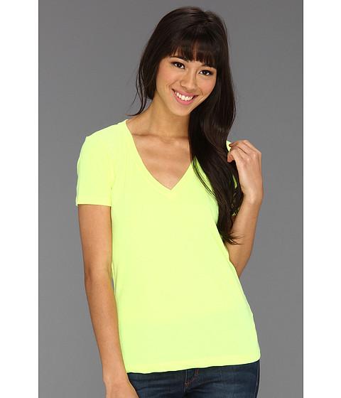 Tricouri Hurley - Solid Perfect V Shirt (Juniors) - Hot Yellow