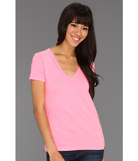 Tricouri Hurley - Solid Perfect V Shirt (Juniors) - Neon Pink