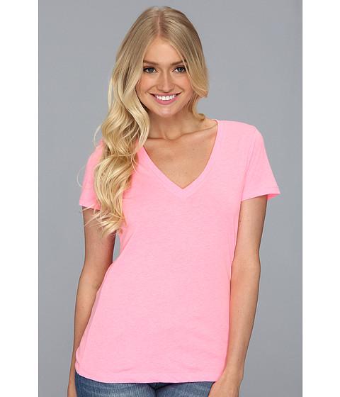 Tricouri Hurley - Solid Perfect V Shirt (Juniors) - Techno Pink