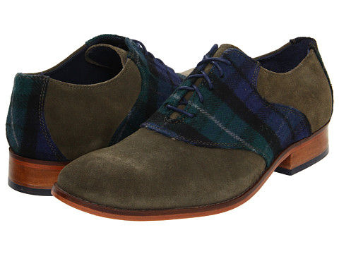 Pantofi Cole Haan - Air Colton Saddle - Forest Suede/Plaid