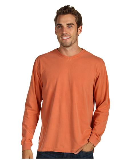 Bluze Fitzwell - Pigment V-Neck - Rust