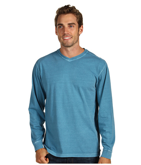 Bluze Fitzwell - Pigment V-Neck - Wedgewood