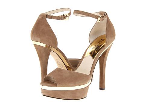 Pantofi Michael Kors - Axton Ankle Strap - Mushroom Suede
