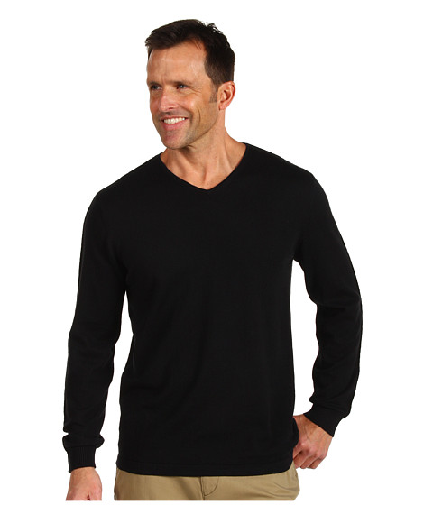 Bluze Tommy Bahama - Island Luxe V-Neck - Black