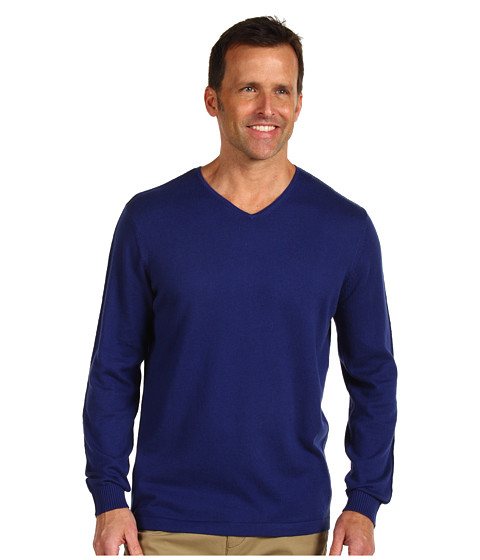 Bluze Tommy Bahama - Island Luxe V-Neck - Deep Marine