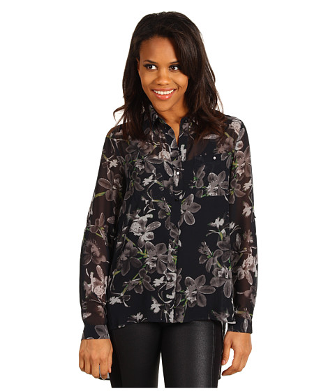 Bluze Kenneth Cole - Printed Blouse w/ Layered Back - Blue Ribbon Combo