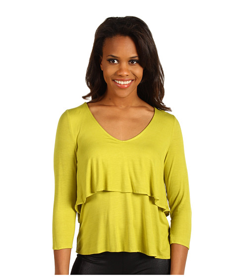 Bluze Kenneth Cole - 3/4 Sleeve Tiered Top - Citron