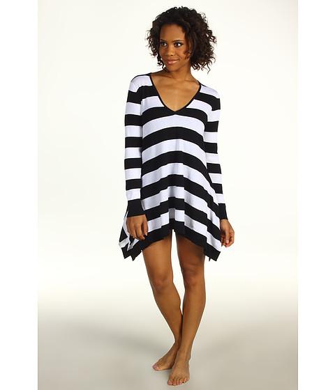 Rochii Tommy Bahama - Beach Sweater Hi-Low Sweater - Black/White