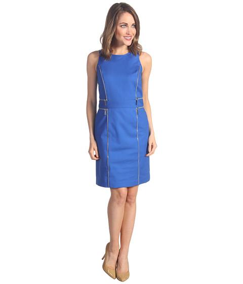 Rochii Michael Kors - Sheath Double Zip Dress - Urban Blue