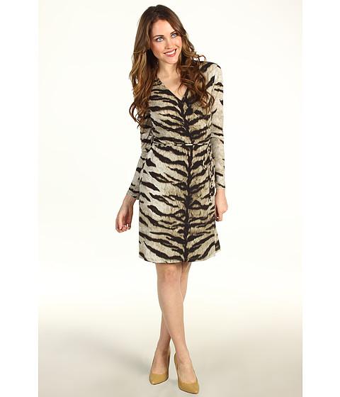 Rochii Michael Kors - Petite Samburu Tiger L/S Wrap Dress - Milk
