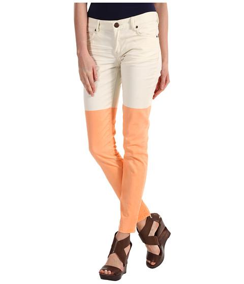 Pantaloni BCBGeneration - Jasper Colorblock Skinny Jean - Cream/Coral