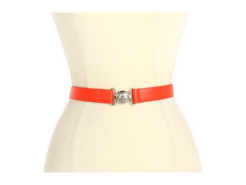 """Curele Anne Klein New York - Anne Klein 1\"""" Pebble Belt w/ Interlock Buckle - Orange"""