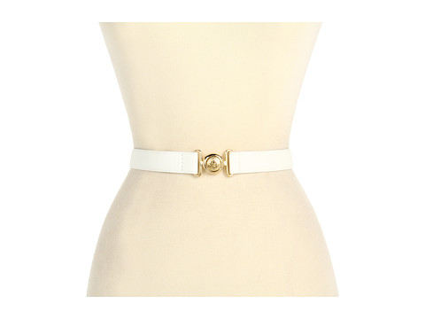 """Curele Anne Klein New York - Anne Klein 1\"""" Pebble Belt w/ Interlock Buckle - White"""