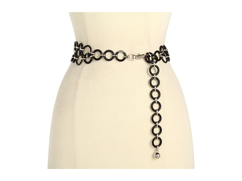 Curele Anne Klein New York - Anne Klein Metal Link Chain Belt - Black