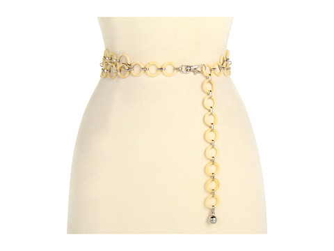 Curele Anne Klein New York - Anne Klein Metal Link Chain Belt - White Silver