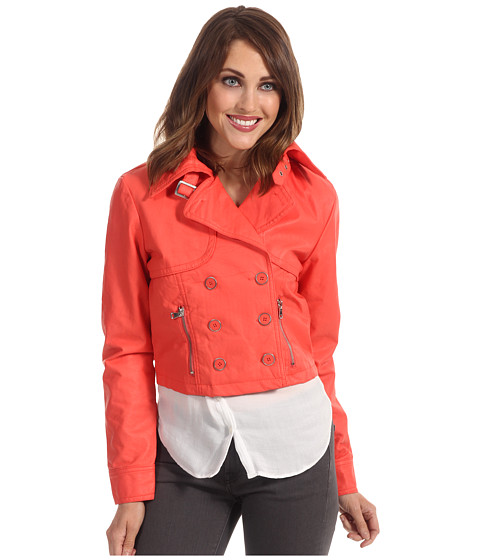 Jachete dollhouse - Butter Touch PU Jacket w/ J Pockets - Papaya