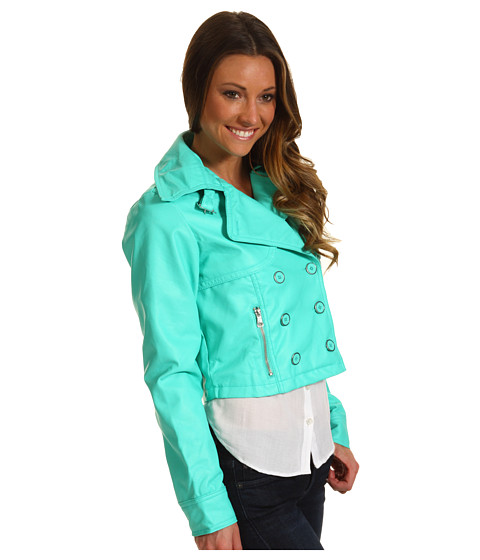 Jachete dollhouse - Butter Touch PU Jacket w/ J Pockets - Seafoam