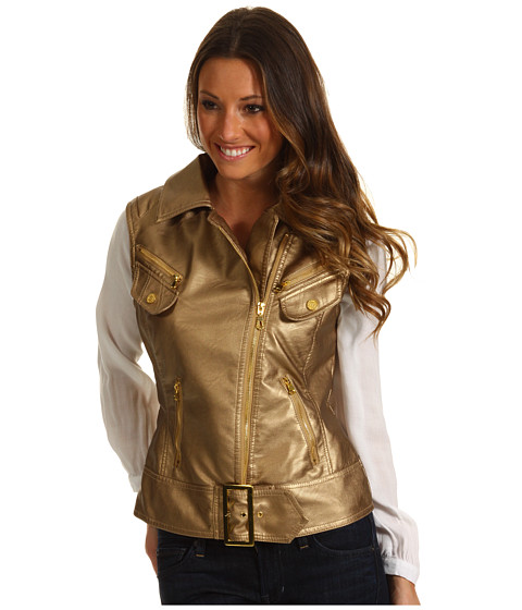 Jachete dollhouse - Embossed Metallic PU Vest - Gold