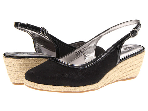 Pantofi Anne Klein New York - Gaelly - Black Linen