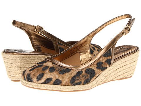 Pantofi Anne Klein New York - Gaelly - Leopard Linen Jute Wrap