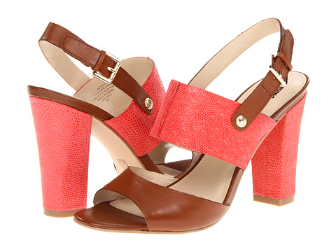 Pantofi Anne Klein New York - Traven - Cognac/Red Leather