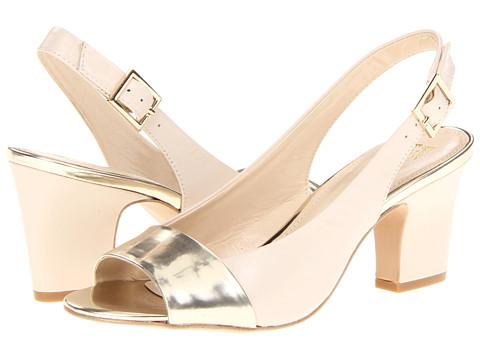 Pantofi Anne Klein New York - Ulema - Ivory/Gold Leather