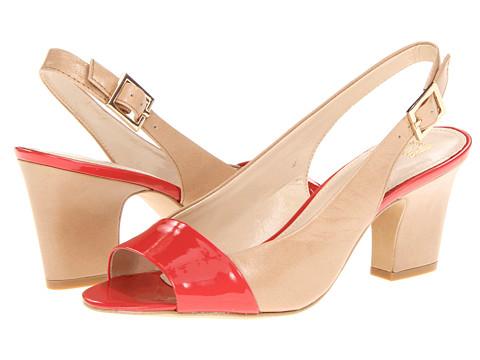 Pantofi Anne Klein New York - Ulema - Tan/Coral Leather