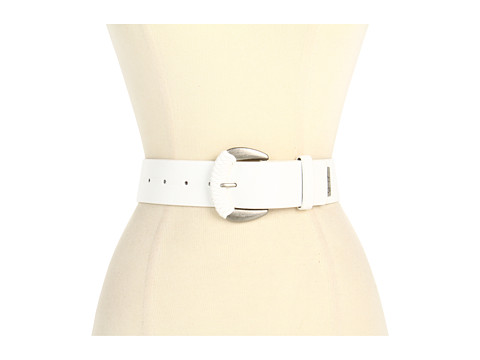 """Curele Jessica Simpson - Jessica Simpson 1 3/4\"""" Jean Panel With Wrapped Buckle - White"""