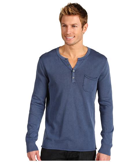 Bluze Lucky Brand - Fine Cotton Henley Sweater - Midnight