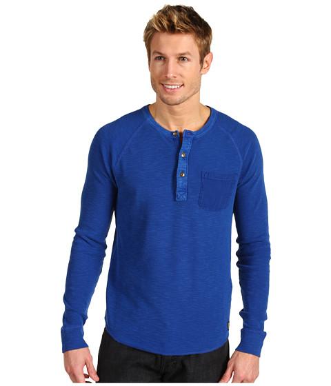 Bluze Lucky Brand - L/S Raglan Henley - Limoges Blue