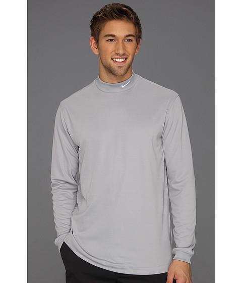 Bluze Nike - UV Nike Victory L/S Mock - Stadium Grey/White
