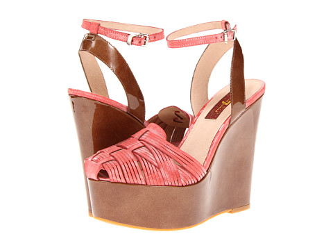 Pantofi 7 For All Mankind - Yves - Electric Pink/White Wash Kid/Natural Foggy Patent Leather