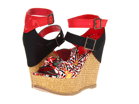 Sandale MIA - Ellie - Red Zulu Fabric