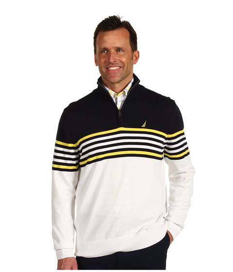 Bluze Nautica - Main Sail Quarter Zip Sweater - Sail White