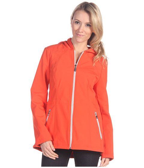 Jachete Jessica Simpson - Hooded Anorack Soft Shell Jacket - Tangerine