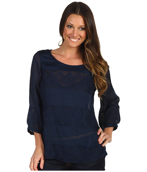 Bluze Lucky Brand - Empress Pieced Lace Top - American Navy