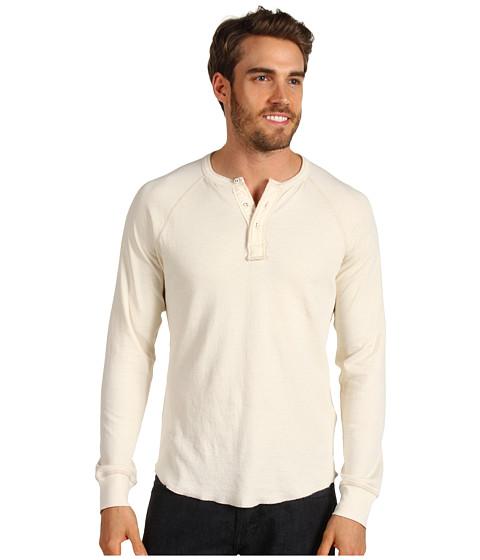 Bluze Lucky Brand - Garment Dye Henley - Stone White