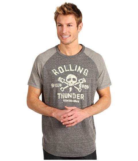 Tricouri Lucky Brand - Rolling Thunder Shirt - Tri Blend Grey