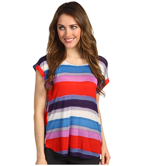 Bluze Splendid - Watercolor Stripe S/S - Firework